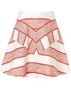 3.1 Phillip Lim Red Melange Graphic Flounce Skirt - Lyst