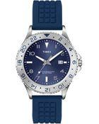 Timex® Mens Ameritus Blue Silicone Strap 42mm T2p032um - Lyst