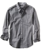 Banana Republic Slim-Fit Gray Check Luxe Flannel Button-Down Shirt - Lyst
