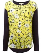 MICHAEL Michael Kors Printed Panel T-Shirt - Lyst