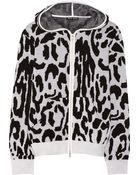 Baja East Leopard-Patterned Cashmere Hooded Top - Lyst