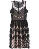 RED Valentino Silk-Organza And Tulle Scalloped Dress - Lyst