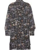 Isabel Marant Carla Printed Silkgeorgette Mini Dress - Lyst