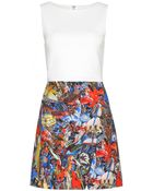 Alice + Olivia Molly Printed Cotton Dress - Lyst