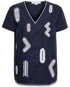 Stella McCartney Embroidered Cotton Top - Lyst