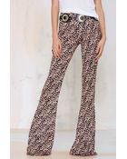 Nasty Gal Somedays Lovin Chicago Knit Flare Pant - Lyst