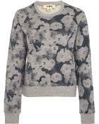 YMC Grey Flower Print Cotton Sweatshirt - Lyst