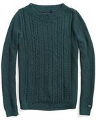 Tommy Hilfiger Final Sale- Textured Cable Knit Sweater - Lyst