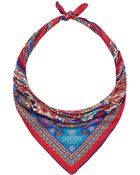 Liberty London Red Peacock Garden Silk Scarf - Lyst