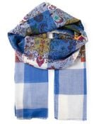Etro Check And Paisley Scarf - Lyst