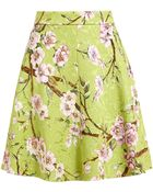 Dolce & Gabbana Floral Printed Textured Skirt - Lyst