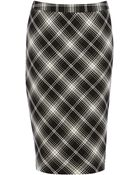 Oasis Mono Check Pencil Skirt - Lyst