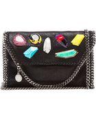 Stella McCartney Embroidered Mini Shoulder Bag - Lyst