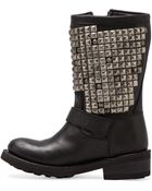 Ash Tr Studded Boot in Black - Lyst