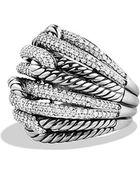 David Yurman Labyrinth Dome Ring With Diamonds - Lyst