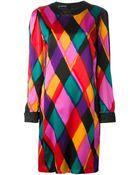 Louis Feraud Vintage Colour Block Dress - Lyst