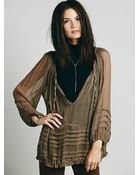 Free People Womens Fp One Tie That Binds Blouse - Lyst