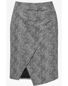 French Connection Powdered Pepper Crossover Skirt - Lyst