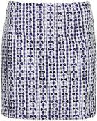 Topshop Tall Gingham Lace Pelmet Skirt - Lyst