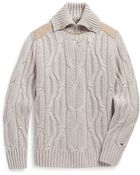 Tommy Hilfiger Equestrian Cable Knit Sweater - Lyst