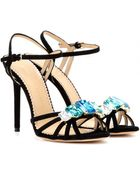 Charlotte Olympia Jewel Embellished Suede Sandals - Lyst