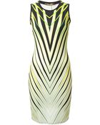 Roberto Cavalli Graphic Print Fitted Dress - Lyst