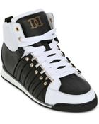 DSquared2 20mm Leather High Top Sneakers - Lyst