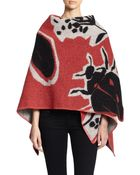 Burberry Prorsum Insects Wool & Cashmere Cape - Lyst