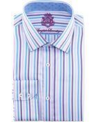 English Laundry Striped Poplin Dress Shirt - Lyst