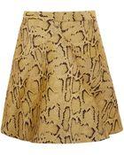 Stella McCartney Yellow Python Print Aline Skirt - Lyst