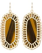 Kendra Scott Delilah Tiger\'S Eye Drop Earrings - Lyst