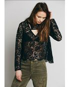 Free People Womens Lace Cutout Top - Lyst