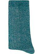 Alto Milano Short Glittery Socks - Lyst