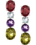 Asprey Multicolor Gem Chaos Drop Earrings - Lyst