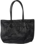Roberto Cavalli Large Leather Bag - Lyst