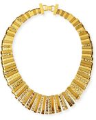 Jose & Maria Barrera 24k Gold-plated Collar Necklace - Lyst