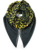 McQ by Alexander McQueen Leopard Print Scarf - Lyst