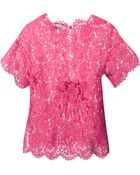 Valentino Floral Lace Blouse - Lyst