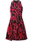 Proenza Schouler Blotchy Print Skater Dress - Lyst
