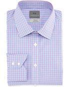 Thomas Dean Long-Sleeve Check Non-Iron Dress Shirt - Lyst
