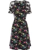 Oasis Flower Garden Patched Dress - Lyst