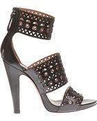Azzedine Alaïa Leather 3 Strap Shoes - Lyst