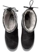TOMS Black Wool Stripe Women'S Nepal Boots - Lyst