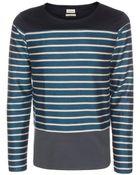 Paul Smith Petrol Blue Breton Stripe Cotton-Blend Sweater - Lyst