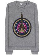 Kenzo Eiffel Tower Cotton Sweatshirt - Lyst
