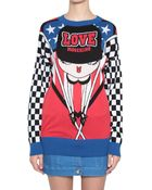 Love Moschino Cotton Pull With Pin-Up Inlay - Lyst