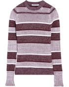 T By Alexander Wang Ribbed-Knit Cotton-Blend Sweater - Lyst