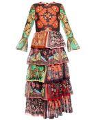 Valentino Patchwork Tiered Gown - Lyst