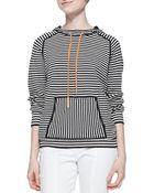 Tory Burch Geraldine Hooded Striped Sweater - Lyst