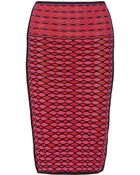M Missoni Knitted Cotton-Blend Pencil Skirt - Lyst